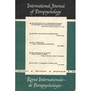 INTERNATIONAL JOURNAL OF PARAPSYCHOLOGY