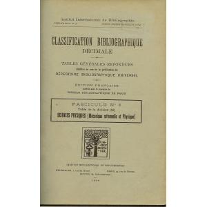 CLASSIFICATION BIBLIOGRAPHIQUE DECIMALE