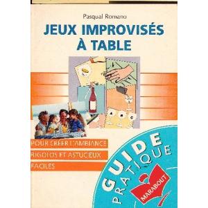 JEUX IMPROVISES A TABLE