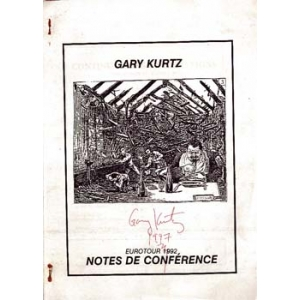 EUROTOUR 1992- NOTES DE CONFERENCE, KURTZ Gary