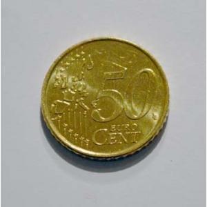 PIÈCE DOUBLE PILE EN 50 CENTS D'EURO