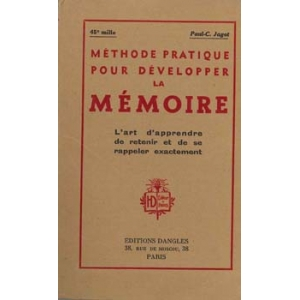 METHODE PRATIQUE POUR DEVELOPPER LA MEMOIRE, JAGOT  Paul-C.