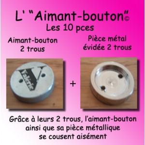 Aimant-bouton / 10 pièces