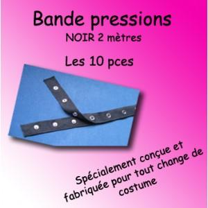Bande pressions - noir 2 mètres / les 10 pièces