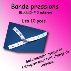 Bande pressions - blanche 2 mètres / 10 pièces
