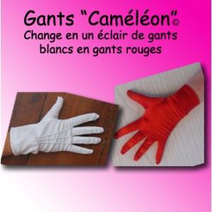 """Gants """"Caméléon"""" - blanc/rouge"""