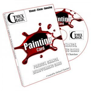 PAINTING CARD by Mickael Chatelain (DVD + Gimmick)