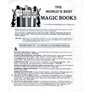 THE WORLD'S BEST MAGIC BOOKS – SUPREME BOOKS