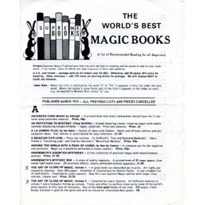 THE WORLD'S BEST MAGIC BOOKS – SUPREME BOOKS