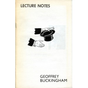 LECTURE NOTES - Geoffrey Buckingham
