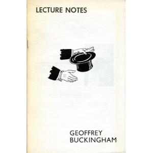 LECTURE NOTES - Geoffrey Buckingham