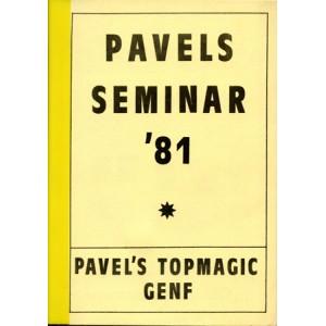 PAVELS SEMINAR'81