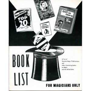 BOOK LIST FOR MAGICIANS ONLY