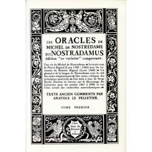 LES ORACLES DE MICHEL DE NOSTREDAME DIT NOSTRADAMUS (Tome 1 + Tome 2)