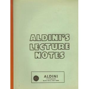 ALDINI'S LECTURE NOTES