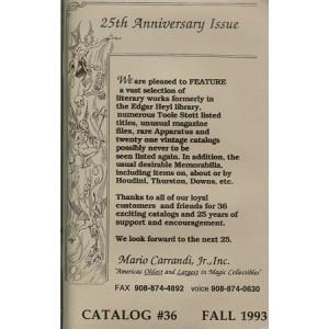 CATALOG 36 - Mario CARRANDI