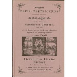 PREIS-COURANT DER FABRIK VON ZAUBER-APPARATE (Herrmann DAVINI)