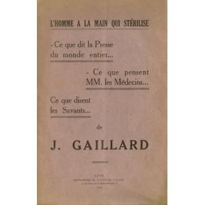 L'HOMME A LA MAIN QUI STERILISE (J. GAILLARD)
