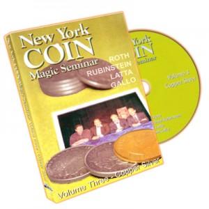 DVD NEW YORK COIN MAGIC SEMINAR Volume Three - Copper Silver (ROTH, RUBINSTEIN, LATTA, GALLO)
