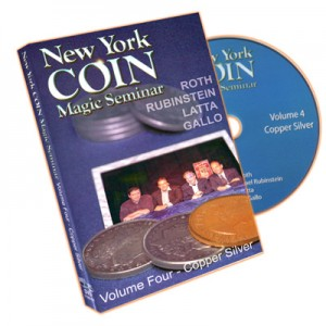 DVD NEW YORK COIN MAGIC SEMINAR Volume Four - Copper Silver (ROTH, RUBINSTEIN, LATTA, GALLO)