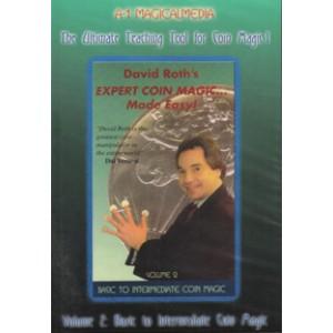 DVD DAVID ROTH'S Expert Coin Magic... Made Easy! Volume 2