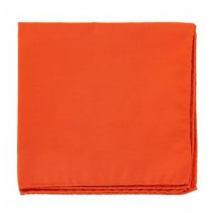 Foulard orange de taille 20x20 cm