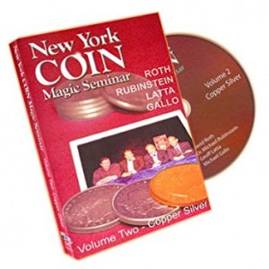 DVD NEW YORK COIN MAGIC SEMINAR Volume Two - Coins Across (ROTH, RUBINSTEIN, LATTA, GALLO)