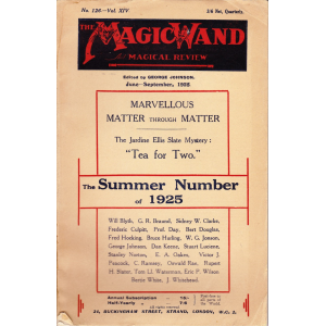 THE MAGIC WAND AND MAGICAL REVIEW Jeune - September, 1925
