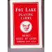 Carte FOX LAKE Face Blanche Dos Rouge
