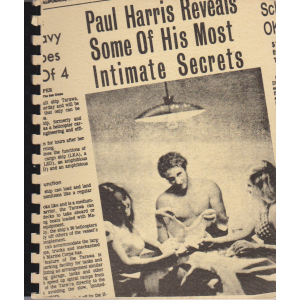 PAUL HARRIS REVEALS SOME OF HIS MOST INTIMATE SECRETS !