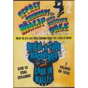 DVD SECRET SEMINARS OF MAGIC WITH PATRICK PAGE Vol. 2