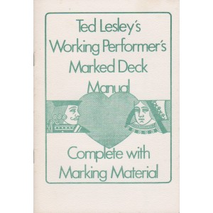 TED LESLEY'S WORKING PERFORMER'S MARKED DECK MANUAL