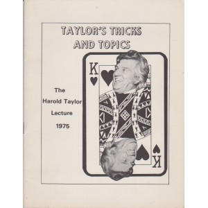 THE HAROLD TAYLOR LECTURE 1975