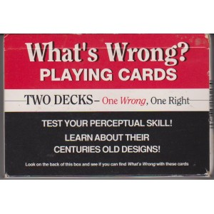 WHAT'S WRONG? PLAYING CARDS