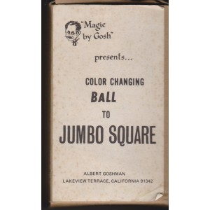COLOR CHANGING BALL TO JUMBO SQUARE (Magic by Gosh)