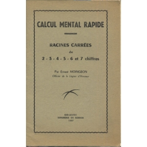 CALCUL MENTAL RAPIDE